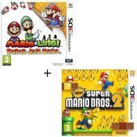Pack 2 jeux 3DS : Mario + Luigi paper jam + New Super Mario Bros 2