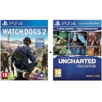 Watch Dogs 2 + Uncharted : The Nathan Drake Collection Uncharted + Uncharted 2 + Uncharted 3