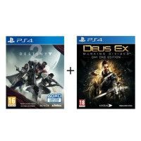 Pack 2 jeux PS4: Destiny 2 + Deus Ex Manking Divided Day One Edition