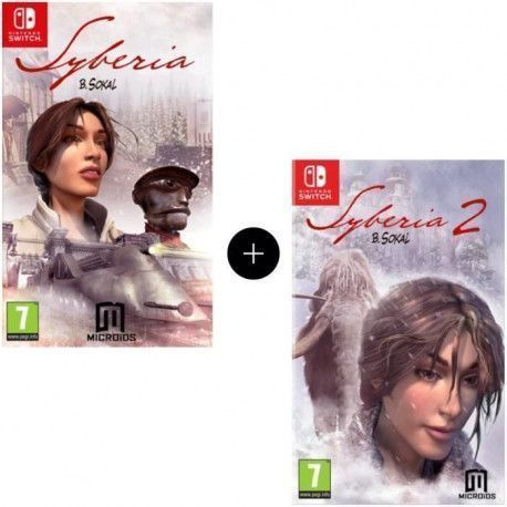 Pack de 2 jeux Nintendo Switch : Syberia 1 + 2