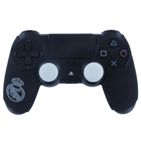 Kit e-sport Real Madrid Grips cahoutchoutes, caps de precision et gachettes quickfire pour manette PS4