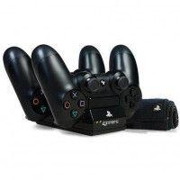 Station de chargement double avec kit de nettoyage pour PS4 - Noir