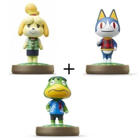 Pack de 3 Amiibos Animal Crossing : Marie + Charly + Amiral