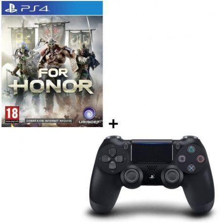 For Honor + Manette DualShock 4 Noire V2