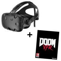 Pack Casque de realite virtuelle HTC VIVE + Jeu PC Doom VFR