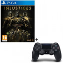 Injustice 2: Legendary Edition - Day One Edition Jeu PS4 + Manette PS4 DualShock 4 Noire V2