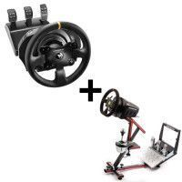Pack THRUSTMASTER Volant TX Racing Wheel Leather Edition - PC, Xbox One + 69DB Support Wheel Stand EVO offert !