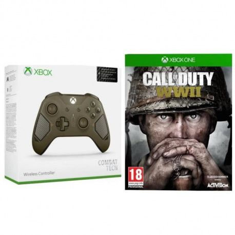 Manette Xbox One Combat Tech + le jeu Xbox One Call of Duty WWII