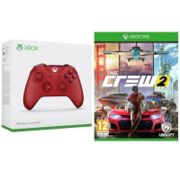 Manette Xbox One sans fil rouge + The Crew 2