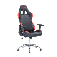 Chaise Gamer Baquet Noir et Rouge
