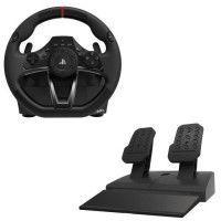 Volant de course + Pedalier Hori pour PS4
