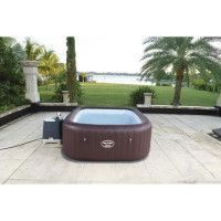 BESTWAY Spa carre gonflable Maldives Hydrojet Pro 7 places