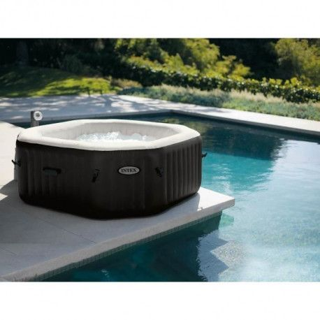 INTEX Pure spa 6 places octogonal bulles et jets