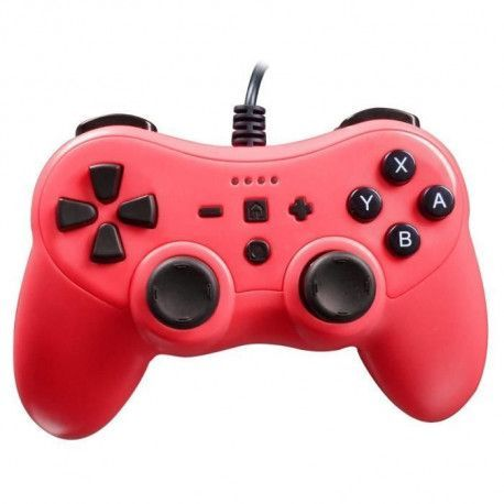 Manette Rouge Neon pour console Nintendo Switch