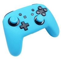 Protection en silicone bleu neon + caps Subsonic pour manette Nintendo Switch Pro Controller