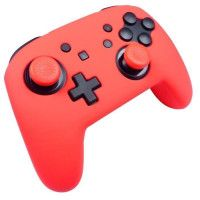 Protection en silicone rouge neon + caps Subsonic pour manette Nintendo Switch Pro Controller