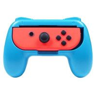2 Grips manette pour Joy-Cons Nintendo Switch rouge et bleu fluo