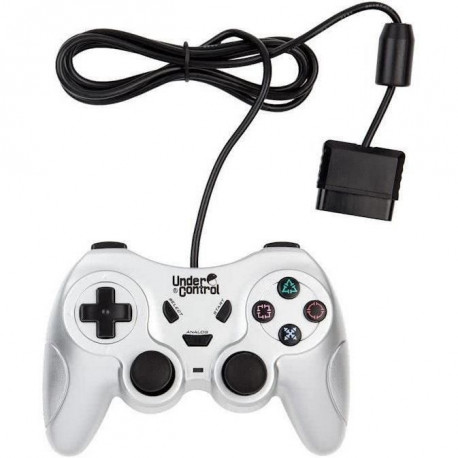 Manette Filaire PS2 Argent Under Control