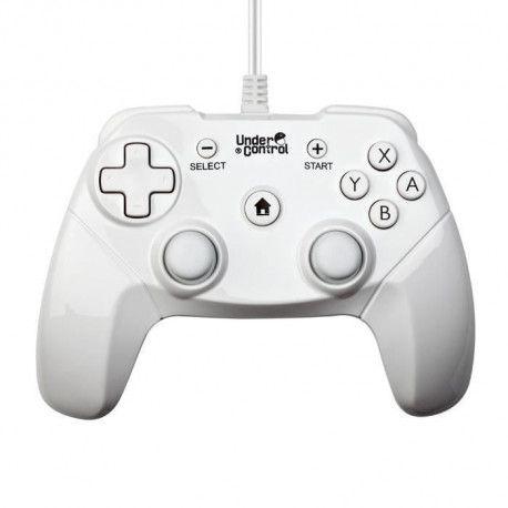 Manette expert filaire Wii / Wii U Blanc 2M Under Control