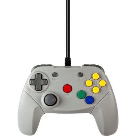 UNDER CONTROL Manette filaire Nintendo 64 - 2M - Grise