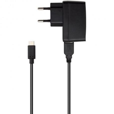 Adapteur secteur 2,4 A et cable de charge USB type C1 pour Nintendo Switch Noir Proxima Plus
