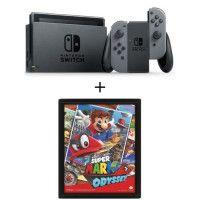 Nintendo Switch Grise + Cadre Mario 3D