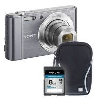 DSC810 gris + sacoche + carte 8Go -  Appareil photo compact