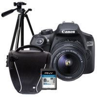 Pack Debutant  : CANON EOS 1300D + EF-S 18-55mm DC III Appareil photo Reflex + Carte 8Go + Sacoche + Trepied