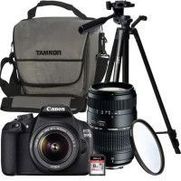 CANON EOS 1200D + EF-S 18-55IS II + TAMRON 70-300mm + Trepied + Carte 8 Go + OFFERTS: Sacoche + Filtre UV