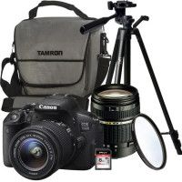 CANON EOS 700D + 18-55 IS STM + TAMRON 18-200mm + Trepied + Carte 8 Go + OFFERTS: Sacoche + Filtre UV