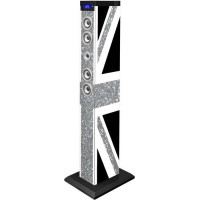 BIGBEN TW9GBGLITTER Tour de son multimedia Bluetooth - 60W - Great Britain glitter