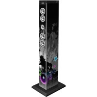 BIGBEN TW9DJLIGHT3 Tour de son multimedia Bluetooth avec LED bleues, roses et blanches - 60W - Motif DJ