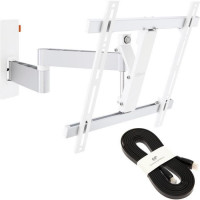 VOGELS WALL3245WHITE Support Orientable - 32 a 55 - 20kg max + Cable HDMI  2.0 3m slim 4K / Ultra HD 2160p