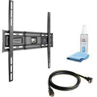 MELICONI PACK VESA 400 FIXE Support TV mural fixe pour TV de 40 a 80 + Cable HDMI + Cleaning
