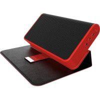 PRESTIGE MUSIC BOOK Enceinte nomade sans fil Bluetooth 20W - Autonomie 20h - Micro integre - Fonction PowerBank-Etui a rabat - R