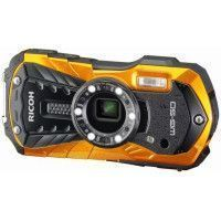 RICOH WG-50O Appareil photo numerique compact - 16,79 Mpx - Etanche jusqua 14 m - Zoom 5 X - Orange