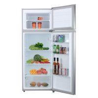 OCEANIC OCEAF2D207S - Réfrigérateur congélateur haut - 207 L 166 + 41 L - Froid statique - L 55 x H 143 cm - Silver