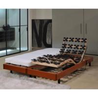 ALICANTE Ensemble relaxation matelas + sommiers electriques 2 x 80 x 200 cm - Mousse - 14 cm - Ferme