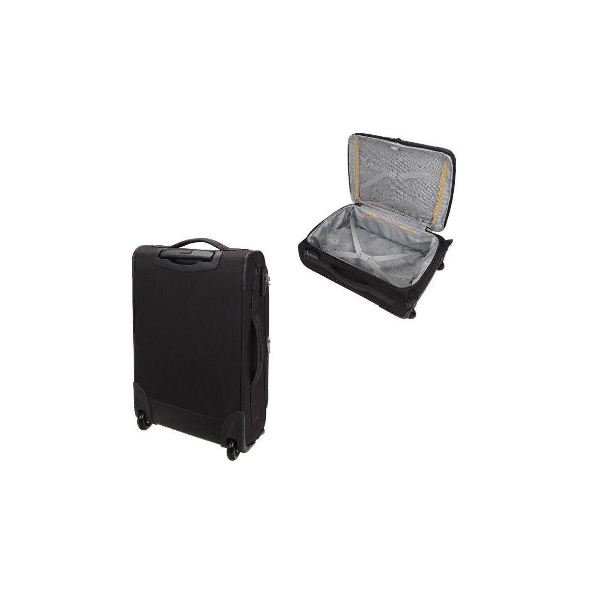fb1dd81fab ... VISA DELSEY Valise Cabine Low Cost Extensible Souple 2 Roues 55cm PIN  UP5 Noir ...