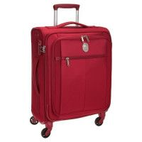 VISA DELSEY Valise Cabine Low Cost Souple 4 Roues 55cm PIN UP5 Rouge