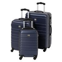 FRANCE BAG Set de 3 Valises Rigide ABS 4 Roues 55-65-70cm Marine