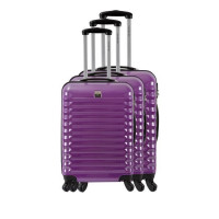 FRANCE BAG Set de 3 Valises Rigide ABS et Polycarbonate 4 Roues 55-65-75cm Violet