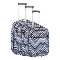 COMPAGNIE DU BAGAGE - Lot de 3 valises 49/59/69cm - Bleu