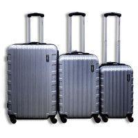 MANOUKIAN Set de 3 Valises Chariot Rigide ABS 4 Roues 48-60-70cm MANOUKIAN 26 Silver