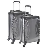 SAVEBAG Set de 2 valises a 4 roues CARBOSITE - Gris anthracite