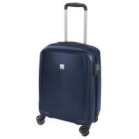 SAVEBAG Valise de cabine 4 roues MAGASKA - Serrure TSA - 35L - Bleu marine