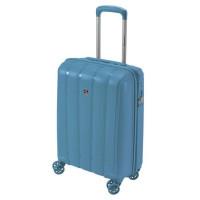 SAVEBAG Valise de cabine rigide 4 roues SUNNY - Serrure TSA - 32L - Bleu ciel