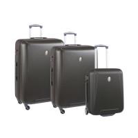 VISA DELSEY Lot de 3 valises trolley Stardust - 50 / 66 / 76 cm - Beige fonce