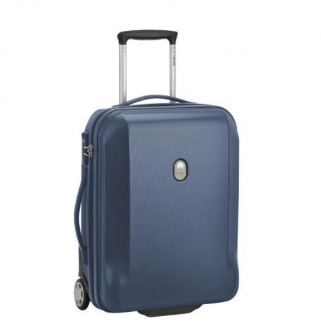 VISA DELSEY Lot 2 Trolleys MISAM : 50cm, 2 Roues + 76cm, 4 Roues - Bleu Marine