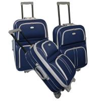 KINSTON Set de 3 valises 2 roues 50/60/70 cm SILVER  Marine